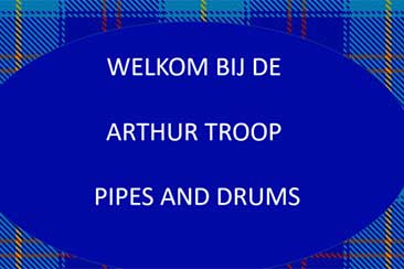 The Arthur Troop Pipes and Drums stelt zich voor